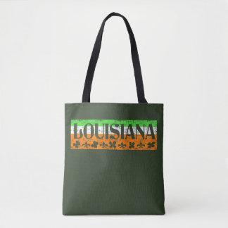 Louisiana Irish St. Patrick's Day Clover Fleur Tee Tote Bag