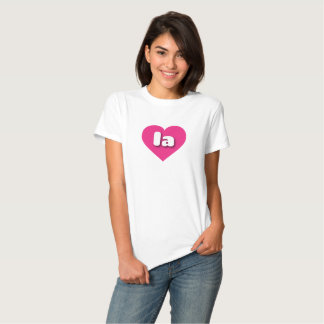 Louisiana la hot pink heart shirts