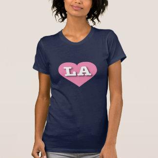 Louisiana LA pink heart Shirt