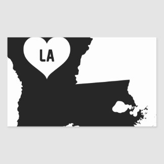 Louisiana Love Rectangular Sticker