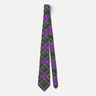 Louisiana Mardi Gras Patterned Neck Tie