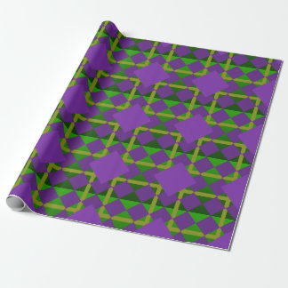 Louisiana Mardi Gras Themed Wrapping Paper