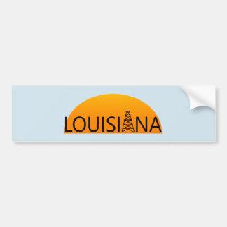 Louisiana Oil Field Sunset Bumper Sticker