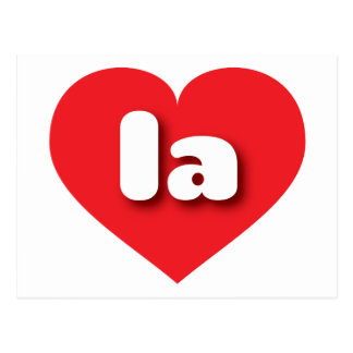 louisiana or los angeles red heart - mini love postcard