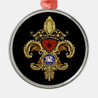 Louisiana Ornaments  Premium Round