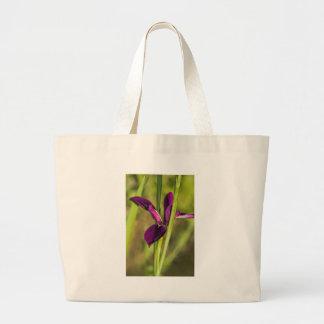 Louisiana Purple Gamecock Iris Large Tote Bag