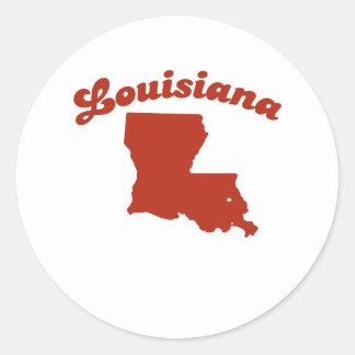 LOUISIANA Red State Round Sticker