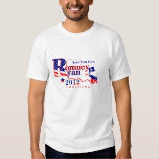 Louisiana Romney and Ryan 2012 T Shirt Customize 2