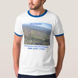 Louisiana skydive parachute earth tee shirts