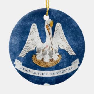 Louisiana State Flag Ceramic Ornament