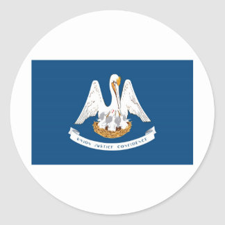Louisiana State Flag Classic Round Sticker