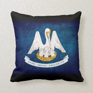 Louisiana state flag cushion