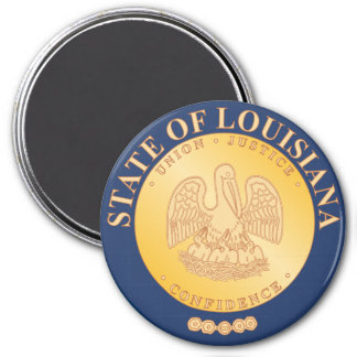 Louisiana State Seal 7.5 Cm Round Magnet