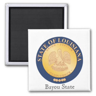 Louisiana State Seal and Motto Refrigerator Magnet