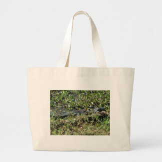 Louisiana Swamp Alligator in Jean Lafitte Close Up Large Tote Bag
