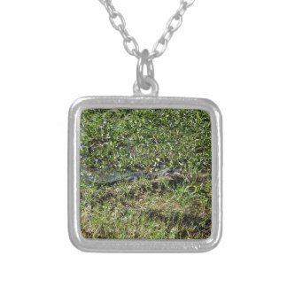 Louisiana Swamp Alligator in Jean Lafitte Silver Plated Necklace
