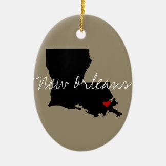 Louisiana Town Ceramic Ornament