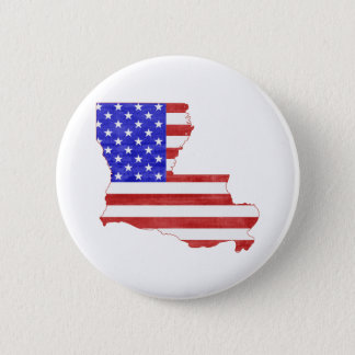 Louisiana USA silhouette state map 6 Cm Round Badge
