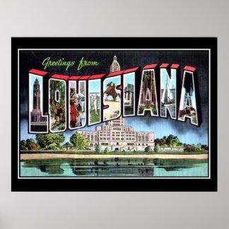 Louisiana Vintage Poster Creole