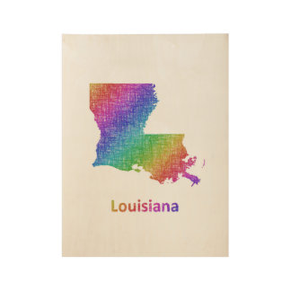 Louisiana Wood Poster