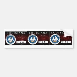Louisiana Zombie Hunting Permit Bumper Stickers