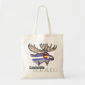 Louisville Colorado artistic elk flag reusable bag