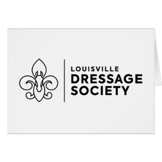 Louisville Dressage Society logo Card