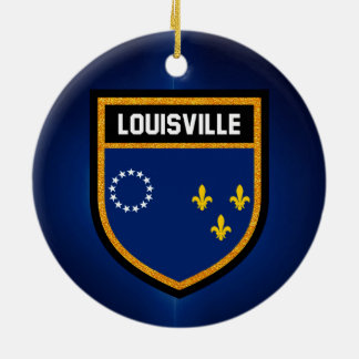 Louisville Flag Ceramic Ornament