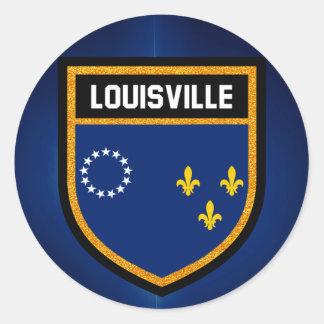 Louisville Flag Classic Round Sticker