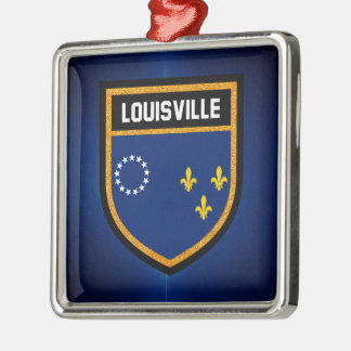 Louisville Flag Metal Ornament