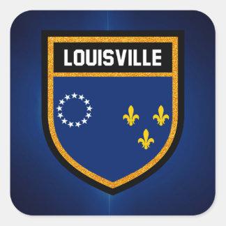 Louisville Flag Square Sticker