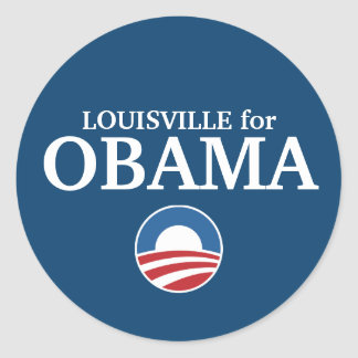 LOUISVILLE for Obama custom your city personalized Classic Round Sticker