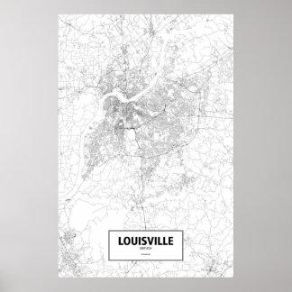 Louisville, Kentucky (black on white) Poster