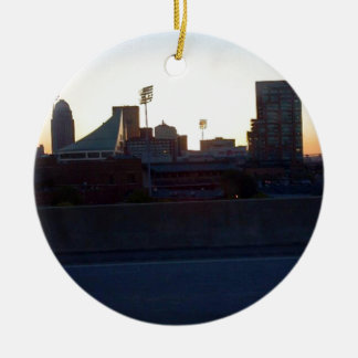 """LOUISVILLE, KENTUCKY CITY SKYLIN""E SCENE"" CERAMIC ORNAMENT"