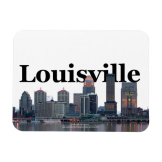 Louisville KY Skyline with Louisville in the Sky Magnet
