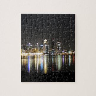 Louisville skyline at night jigsaw puzzle