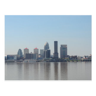Louisville skyline during the day postcard