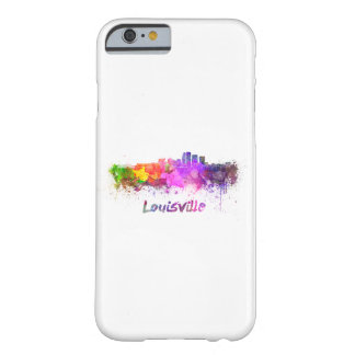 Louisville skyline in watercolor barely there iPhone 6 case