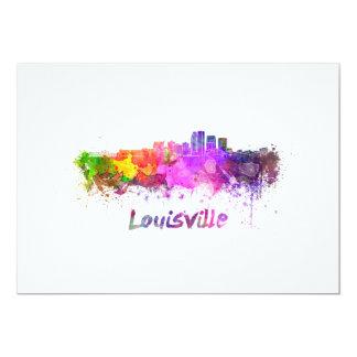 Louisville skyline in watercolor card