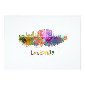 Louisville V2 skyline in watercolor Card
