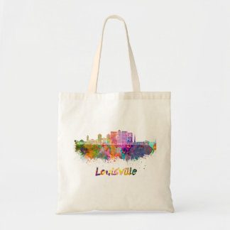 Louisville V2 skyline in watercolor Tote Bag