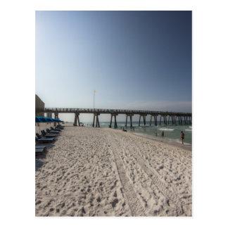 Lounge Chairs at Panama City Beach Pier Postcard