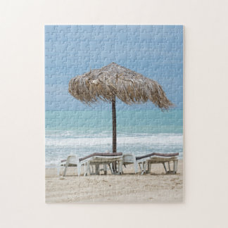 Lounges on the beach jigsaw puzzle