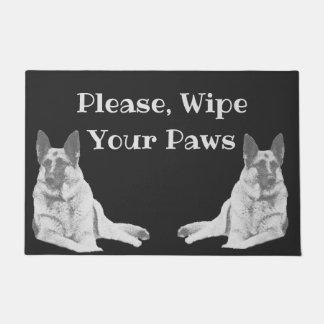 Lounging German Shepherd Dog Doormat