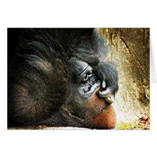 Lounging Gorilla Blank Card