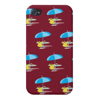 Lounging red iPhone 4 case