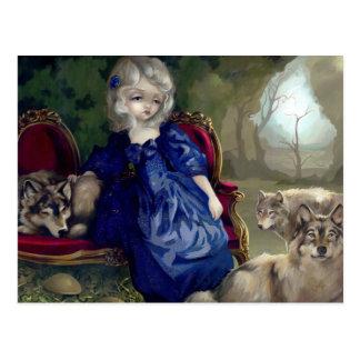 """""""Loup-Garou:  La Tristesse"""" Postcard"""