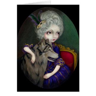 """Loup-Garou: Le Portrait"" Greeting Card"