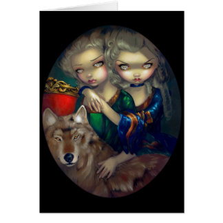 """Loup-Garou:  Les Jumeaux"" Greeting Card"