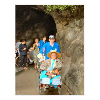 Lourdes, Pilgrims at the healing stream Postcard